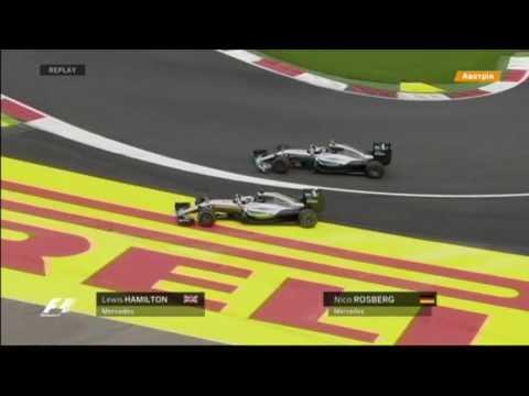 Хэмилтон и Росберг столкнулись на последнем круге гонки