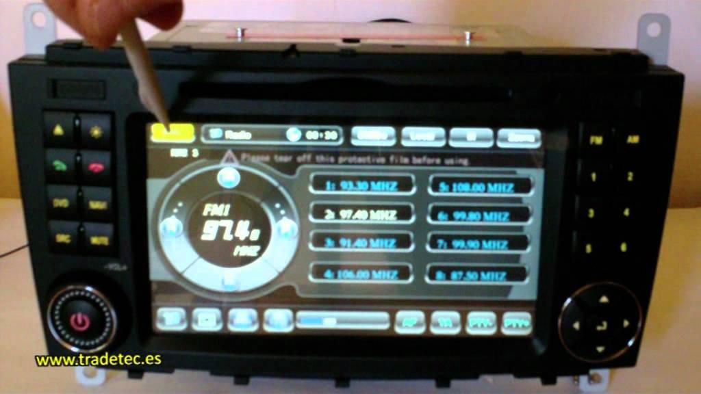 Dvd Con Gps Tdt Y Bluetooth Mercedes Benz Clase C G Clc
