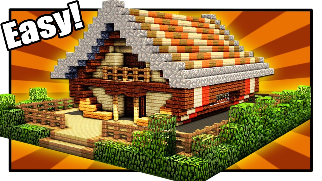 Minecraft How To Build A Cool Wooden House Minecraft