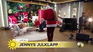 Tomten överraskar en förvånad Jenny - Nyhetsmorgon (TV4)