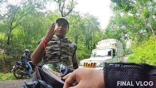 Getting scolded by Angry Police - Bheemana Gudda - Uttara Kannada ride - Final vlog