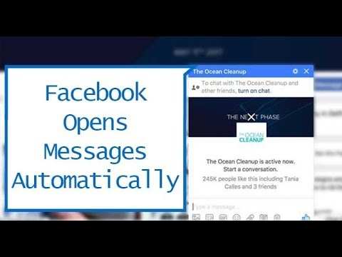 How To Make Facebook Open Messages Automatically