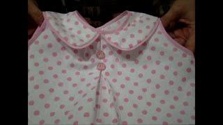 Como fazer blusinha com gola para bebê passo a passo
