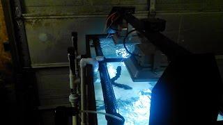 diy light holder for aquarium 2 x 30 watt led flood lights