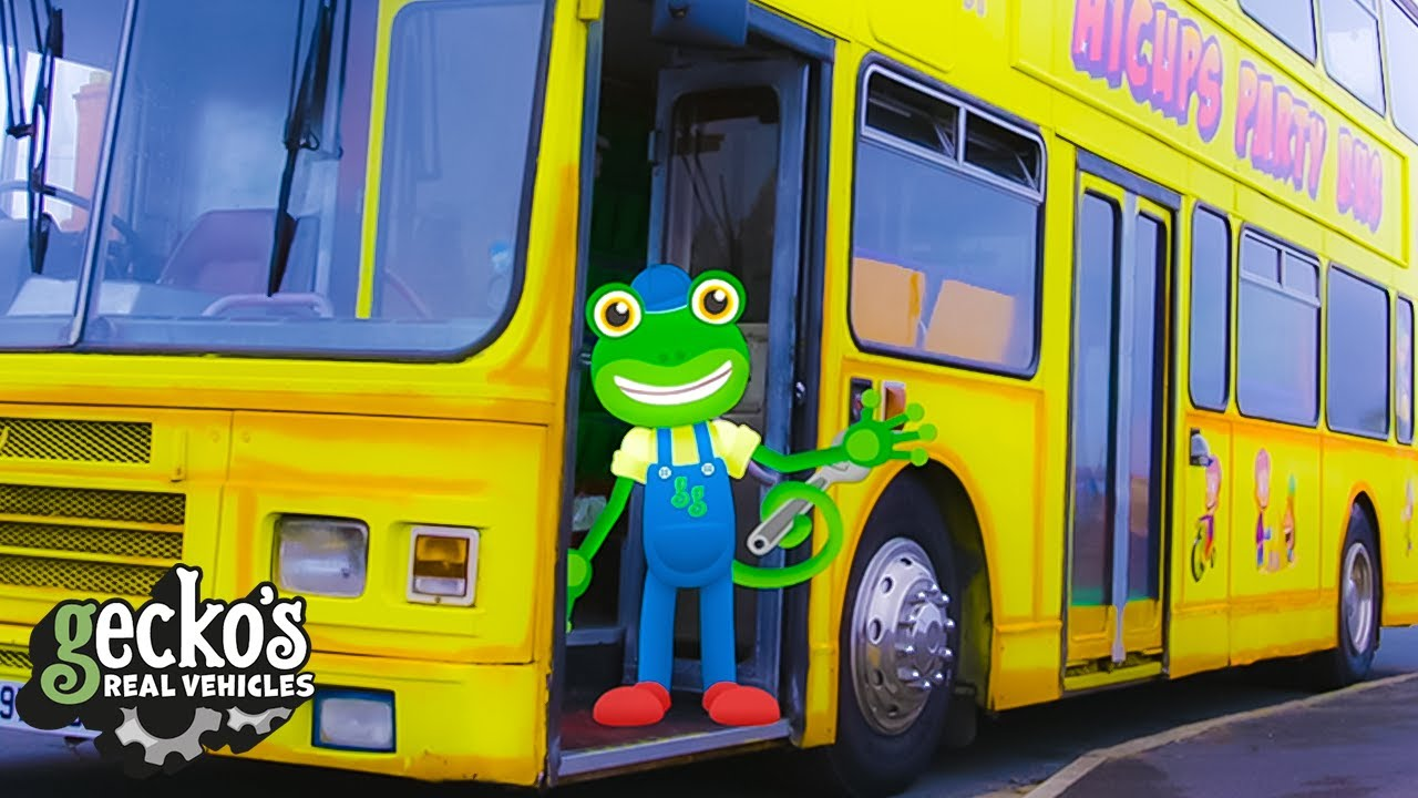 Gecko And The Party Bus - Educational Videos for Kids