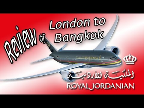 Royal Jordanian airlines from London to Bangkok review