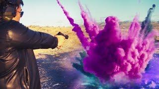 Explosive Spray Paint [Feat .45 ACP]