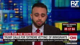 CNN Don Lemon: Ahmadiyya Muslim spokesperson supports Trump's Immigrant vetting