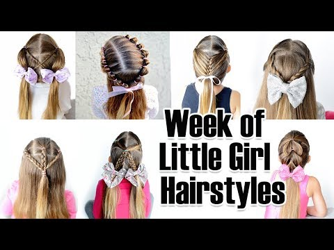7 Quick And Easy Little Girl Hairstyles For The Week Youtube
