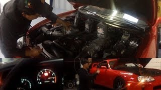ENGINE SOUND & HP TEST Mtul 5w-40 vs Shell 10w-60 Synthetic Racing Oil Shell Helix Ultra Racing