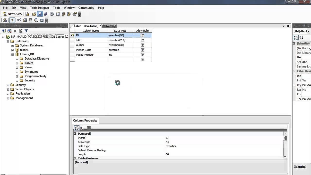 81. برمجة قواعد البيانات - الجداول والحقول والاستعلامات Tables, Fields, Select Queries