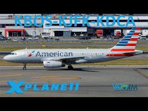 X-Plane 11 | NYC & River Visual!! | A319 | VATSIM | Boston, New York & Washington!!
