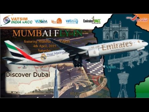 "PMDG 777 A6-ECG at Vatsim's ""Discover Dubai"" and ""Mumbai"" events."