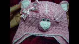 Шапка для малыша крючком №3 из пряжи Нако Бамбино