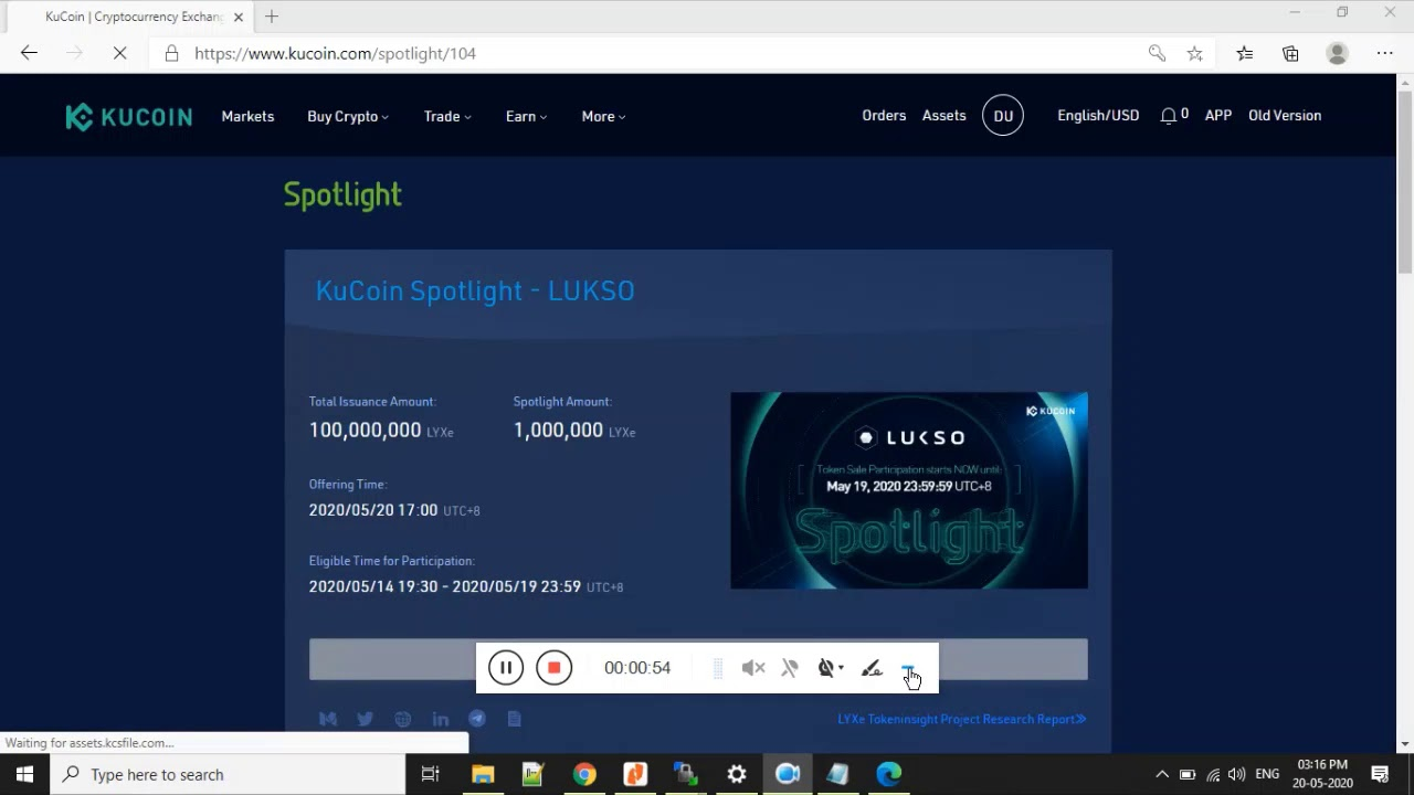 Kucoin Spotlight LUKSO Lottery Results 19
