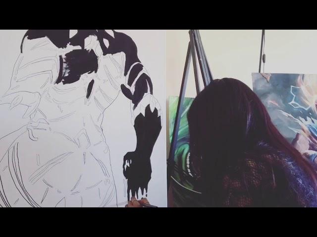 BLACK PANTHER - Oil painting by JYXDI / progress