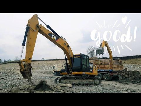 ริปเปอร์มาแล้ว 💯💯💯 รถแบ็คโฮ CAT 320D2 ได้ของเล่นใหม่งัดหินกระจุยกระจาย 💣💣💣