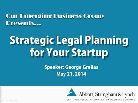 Strategic Legal Planning for Your Startup