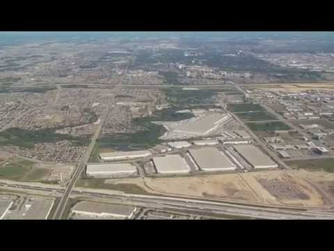 Taking Off From Toronto Pearson International Airport with Aerial Views of Greater Toronto Area