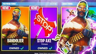 "NEW ""Bandolier SKIN + STOP AXE"" GAMEPLAY in Fortnite Battle Royale! (New Fortnite Update)"
