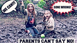 Liv Willow and Indie's PARENTS CANT SAY NO FOR 24 HOURS CHALLENGE. ...
