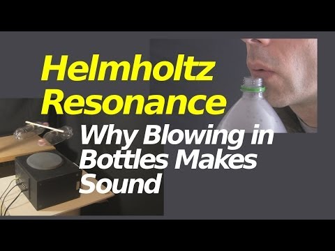 Why Blowing in Bottles Makes Sound and Helmholtz Resonance