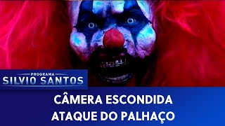 Repeat youtube video Câmera Escondida (30/10/16) - Ataque do Palhaço (Clown Attack Prank at Claw Machine)