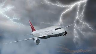 Raios atingindo aviões - compilado