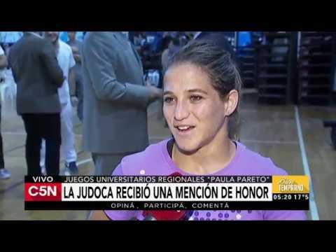 C5N - Deportes: La judoca Paula Pareto recibió una mención de honor