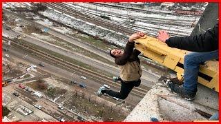 не УПАЛ С КРЫШИ  ЗА СЕКУНДУ ДО... Зацеп НА ГРАНИ опасные трюки /Стас Агапов