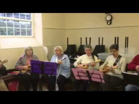 Shelley Over 60's Ukulele Group: Pack Up Your Troubles/Tipperary Medley.