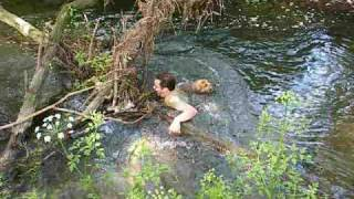 Jo Rescues A Trapped Dog - River Test, Nr Totton 23-05-09