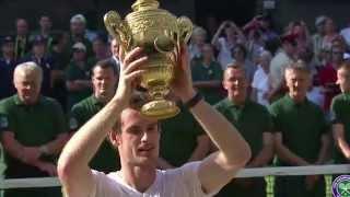 Wimbledon: Andy Murray celebrates winning Wimbledon on Centre Court
