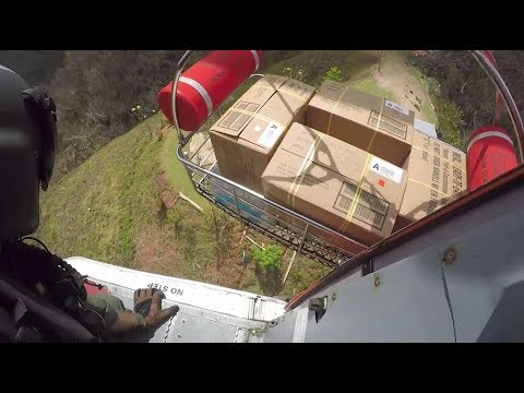 Chopper Delivers Food, Water To Puerto Rico Remote Areas Cut Off By Mudslide