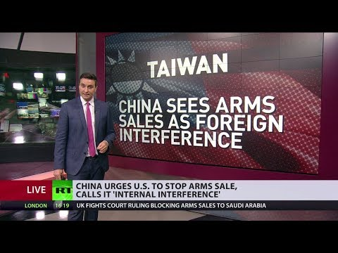 China urges US to 'immediately cancel' arms sale to Taiwan