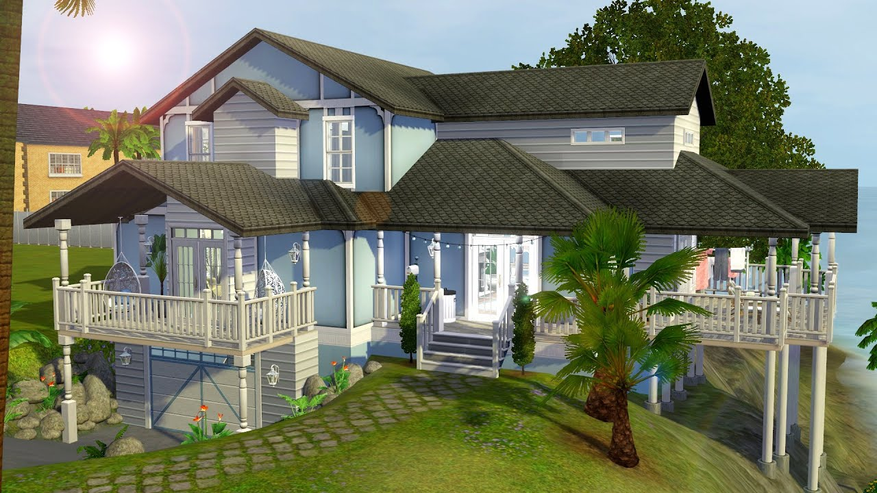 The sims 3 speed build tropic blue youtube for Beach house 3 free download