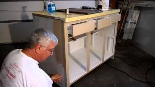 Recycling A Kitchen Cabinet Into A Woodworking Assembly Bench Part 3