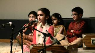 Alankar School of Indian Classical Music - Jun 5th 2011 Concert - Invocation Prayers  by Ananya C