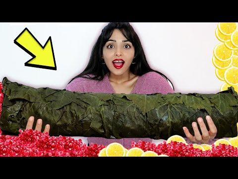 صنعت أكبر حبة ورق عنب في العالم ... 🥒| وزنها يصدم