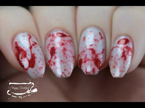 Nailart | Blood Splatter Nail Tutorial for #wnac2015