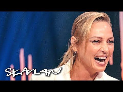 Uma Thurman talks about why she wants a Swedish citizenship   SVT/TV 2/Skavlan