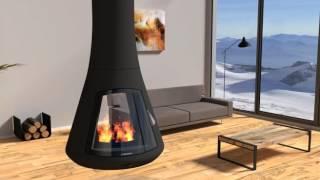 Animation 3D cheminée Calista - JC Bordelet