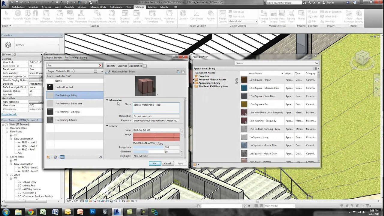 Creating Your Own Material Library in Revit