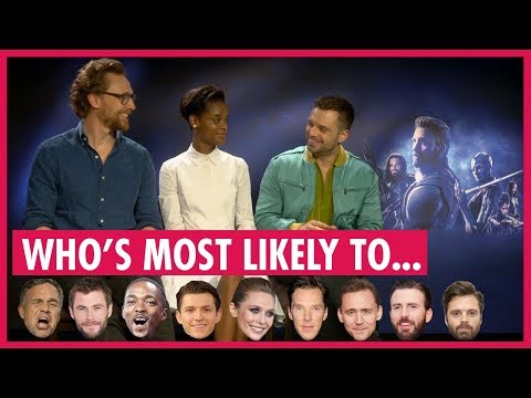 """Tom Hiddleston Leads Avengers Playing """"Who's Most Likely"""""""