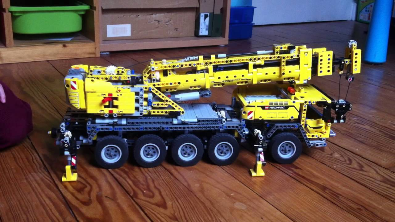 video camion grue lego technic 42009 youtube