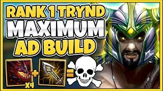 *4 INFERNAL DRAGONS* HIGHEST POSSIBLE AD TRYNDAMERE BUILD (MASSIVE CRITS) - League of Legends