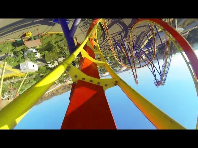 Nitro Roller Coaster POV Adlabs Imagica B&M Floorless Coaster Travel Video
