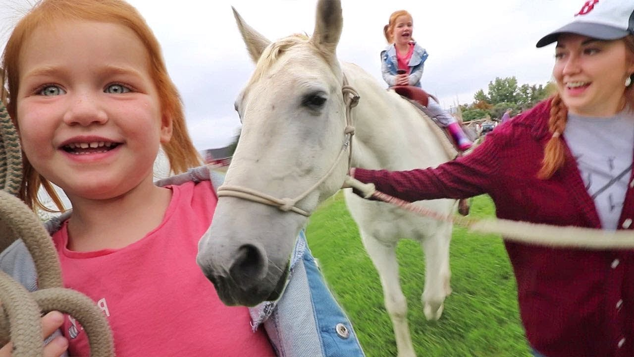 FARM ANIMALS at SCHOOL? Adley Rides Spirit the Horse on FIELD TRIP with class! (family invited)