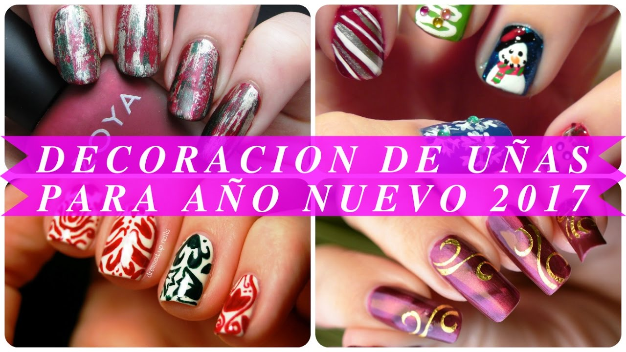 Decoracion de u as para a o nuevo 2017 youtube - Decoracion de unas ...