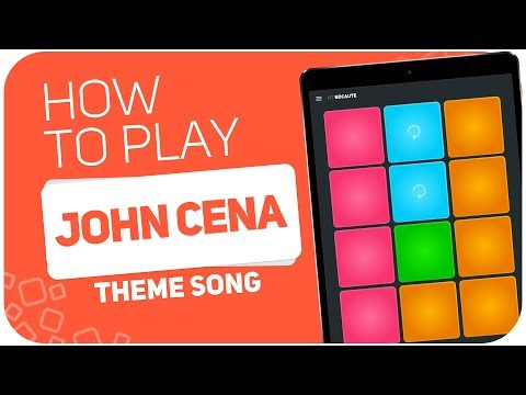 How to play: JOHN CENA (theme song) - SUPER PADS - Kit Nocaute